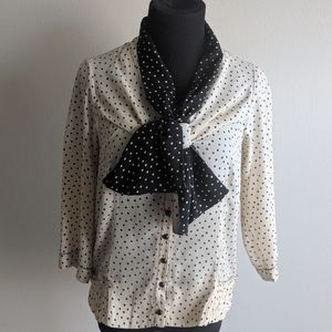 Beguile by Byron Lars Vintage Polka Dot Blouse